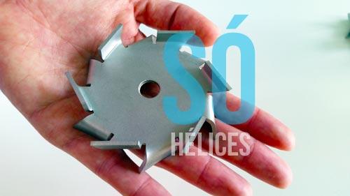 Hélice cowles de 100mm em aço inox